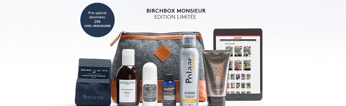 Id e cadeau la birchbox monsieur en edition limit e - Code promo cdiscount frais de port offert 2015 ...