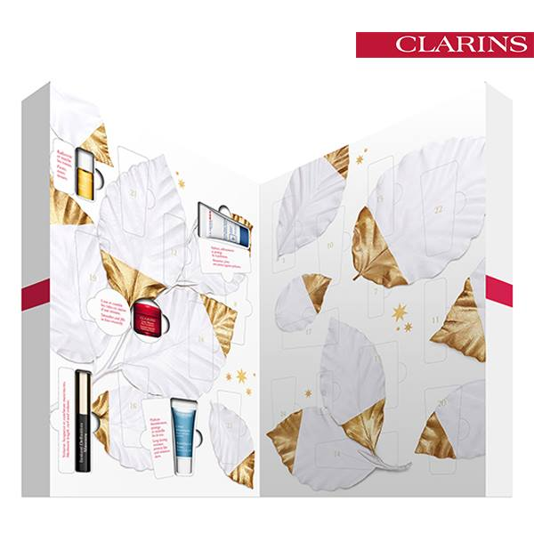 calendrier avent clarins cosmetique beaute noel 2015 idee cadeau. Black Bedroom Furniture Sets. Home Design Ideas