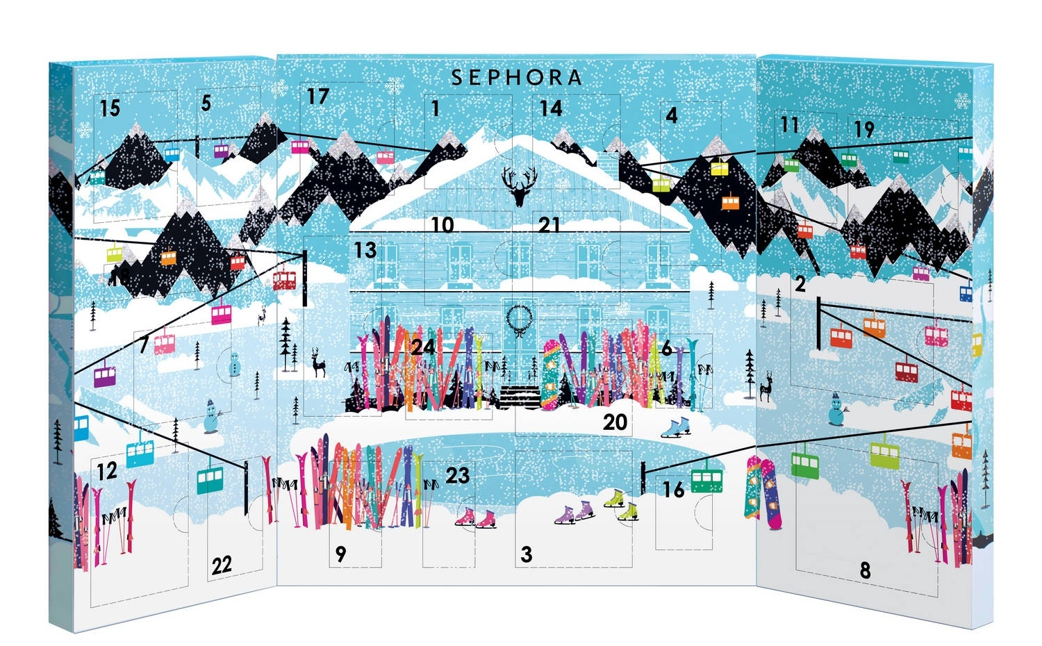 calendrier avent sephora cosmetique beaute noel 2015 idee. Black Bedroom Furniture Sets. Home Design Ideas