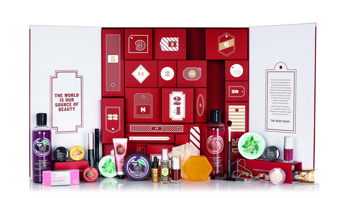 calendrier avent thebodyshop cosmetique beaute noel 2015. Black Bedroom Furniture Sets. Home Design Ideas